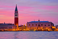 Doge's Palace and St Mark's Campanile in Venice Stock Photos