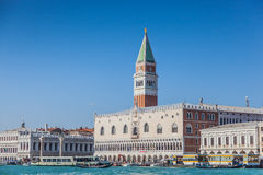 The Doge's Palace with St. Mark's Campanile, Venice, Veneto, Itlay Royalty Free Stock Image