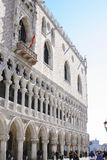 Doge`s Palace and tourists on St Mark`s Square Stock Photography