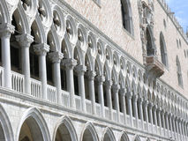 Doge's Palace Venice. View of one of the walls of the Doge's Palace (Palazzo Ducale) - Venice - Italy Stock Images
