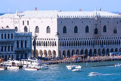 Doge's Palace in venice. The view of the Doge's palace from the Giudecca Canal Royalty Free Stock Photos