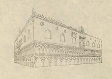 Doge's palace, Venice, Italy royalty free stock photography