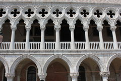 Doge's Palace. Venice, Italy: Doge's Palace, in the famous central St.Mark square, Architectural detail Royalty Free Stock Image