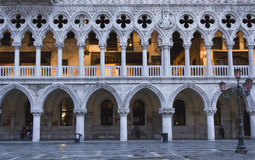 Doge's Palace. Venice, Italy: Doge's Palace, in the famous central St.Mark square, Architectural detail Stock Image