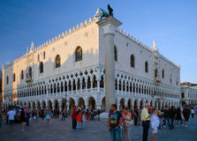 Doge's Palace, Venice. VENICE, ITALY: MARCH 24: Bomb scare sparks evacuation of Doge's Palace in Venice on March 24, 2016 Stock Photos