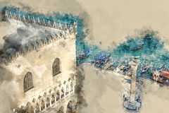 Doge s Palace in Venice - Palazzo Ducale on Piazza San Marco Royalty Free Stock Image