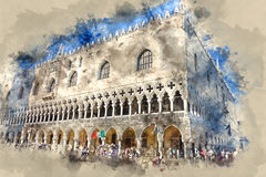 Doge s Palace in Venice - Palazzo Ducale on Piazza San Marco Royalty Free Stock Photo