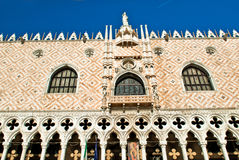 Doge's Palace in Venice sunrise detail Royalty Free Stock Photos