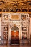 Doge ` s Palast Palazzo Ducale verzierte Wand Lizenzfreies Stockbild