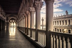 Doge` s Paleis Venetië stock fotografie