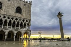 Doge` s Paleis in Venetië, Italië royalty-vrije stock afbeeldingen