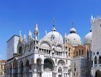 Doge'sens slott, domkyrka av San Marco, Venedig Royaltyfri Foto
