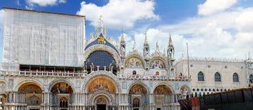 Doge'sens slott, domkyrka av San Marco, Venedig Arkivbild