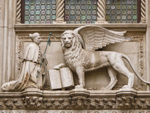 Doge and winged lion Stock Photo