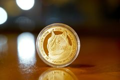 Dogecoin coins Stock Images