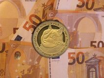 Free Dogecoin Euros Royalty Free Stock Photos - 216639968