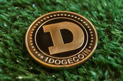 Dogecoin is a modern way of exchange and this crypto currency is a convenient means of payment in the financial and web markets. Dogecoin is a modern way of royalty free stock photos