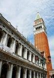 Dogens slott och Campanillen, Venedig, Italien Royaltyfria Bilder