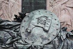 Dogens slottkolonnen San MMonument till Victor Emmanuel II Detalj med den sköldRome vargen arco fyrkant arkivbild