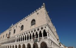 Dogepaleis in Venetië in Venetië stock foto