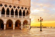 Dogepaleis, Venetië, Italië stock foto's