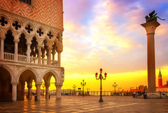Dogepaleis, Venetië, Italië stock afbeelding