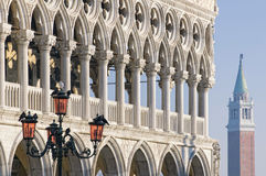 Doges palace. Archway detail, Venice, Italy stock image