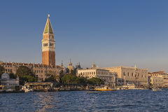Doges Palace and the bell tower Stock Images