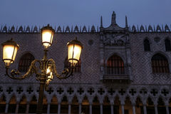 Doges Palace at blue hour, Venice, Italy Royalty Free Stock Photo