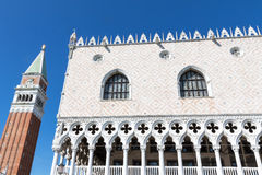 Doges Palace and Campanile in Venice Italy Royalty Free Stock Image