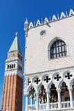 Doges Palace and Campanile in Venice Italy. Vertically. Royalty Free Stock Photos