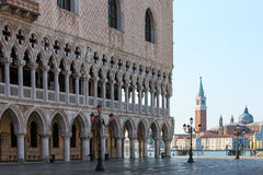 Doges Palace and San Giorgio, Venice Royalty Free Stock Photography