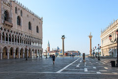 Doges Palace and San Giorgio Venice at sunrise Stock Photo