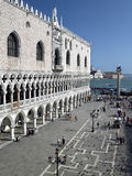 Doges Palace - St Marks Square - Venice - Italy. The Doges Palace on Palazzo Ducale in St Marks Square (San Marco) in Venice in Italy Royalty Free Stock Images