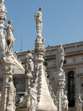 The Doges' Palace in Venice. Wealth of architectural details in the Doges' Palace in Venice stock photo