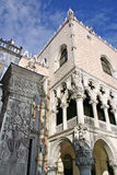 Doges Palace in Venice. The Doges Palace (Palazzo Ducale) with pillar in Venice stock photography