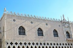 The Doges Palace in Venice. Beautiful Doges Palace in Venice, in Italy stock image