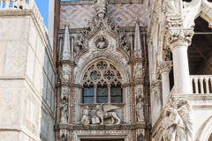 Doges Palace (Palazzo Ducale), Venice, Italy, architecture details Stock Photography