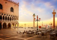 Dogeslott, Venedig, Italien royaltyfria foton