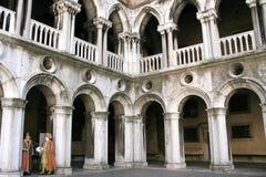 Dogespalast nach innen, Venedig Lizenzfreie Stockfotos