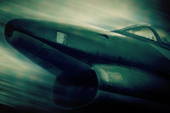 Dogfighter - blurred style photo Stock Images