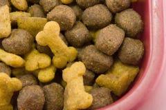 Dogfood bowl closeup Stock Photography
