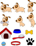 Dogg cartoon and stuff Royalty Free Stock Photography