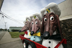 Doggie Diner Remnants Stock Photo
