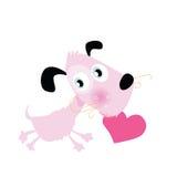 Doggie met hart vector illustratie