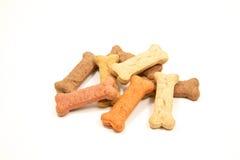 Doggie treats. Several dog treats isolated on white Stock Photo