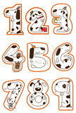 Doggy 1-9. A series of doggy for a concept picture for number 1-9. can use for education, birthday, years old, anniversary stock illustration