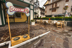 Doggy Bar. At the town street. Cortina d'Ampezzo, Italy Stock Images