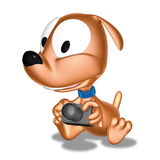 Doggy camera. 3d ilustration, doggy and camera Royalty Free Stock Image