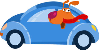 Doggy in the car. Vector illustration vector illustration